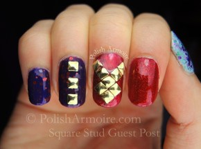 Square Stud Nail Art Guest Post at Lani Loves