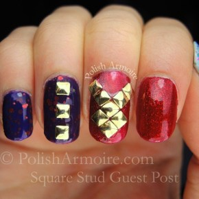 Square Stud Nail Art Guest Post at LaniLoves