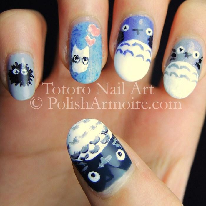 Totoro Nail Art | POLISH ARMOIRE