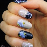 Nail Water Decal Tutorial and Ebalay Glitter Polish