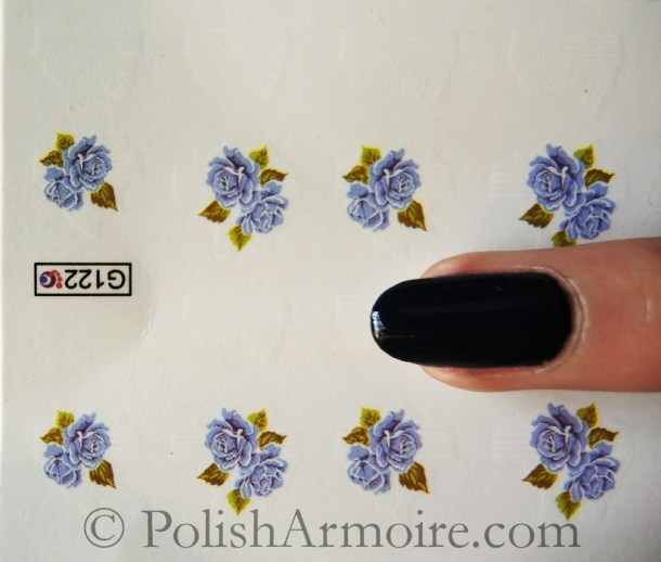 Elegance Lilac Rose Nail Water Decals