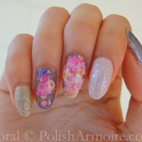 Floral Water Decals with Zoya Tomoko and Revlon Popular
