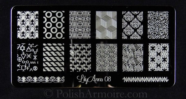 Lily Anna 08 Nail Stamping Plate
