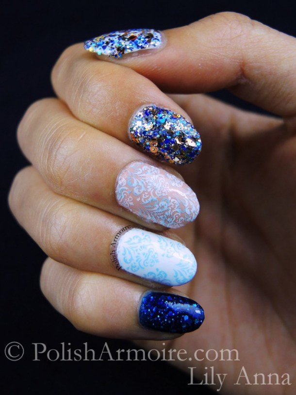 Lily Anna 08 Star Kin Noely Mariana Sally Hansen Blue-Away Stamping