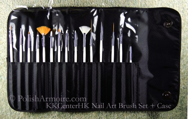 KKCenterHK 15 pc Nail Art Brush Set with Case