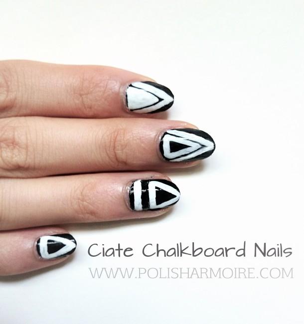 Ciate Chalkboard Geometric Triangle Nail Art