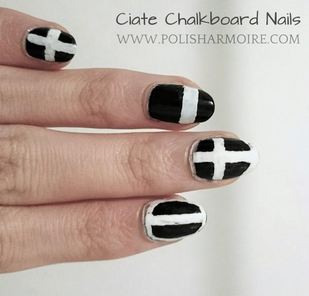 Ciate Chalkboard Nails Cross Nail Art